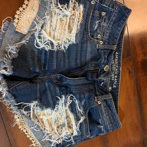 American Eagle Outfitters Shorts - American Eagle distressed shorts with lace